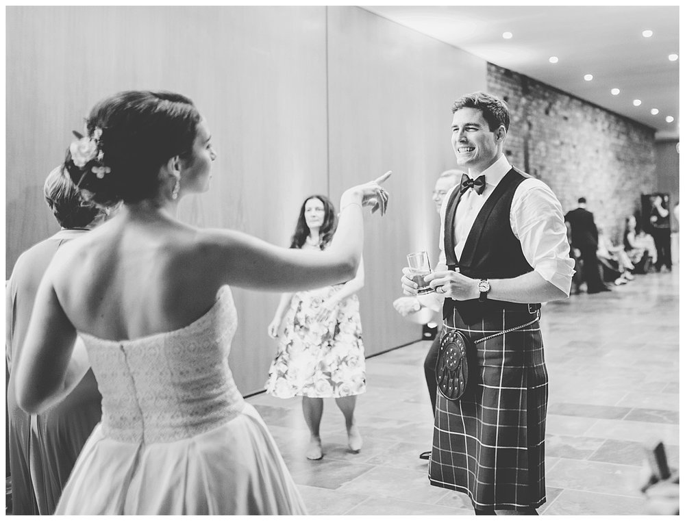 the bride and groom in black and white at Whitworth Art Gallery- Manchester wedding photographer
