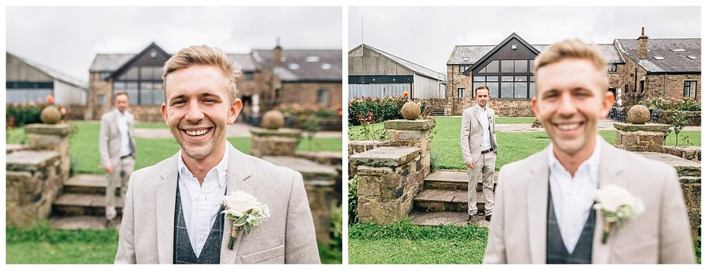 Collage of the groom and his best man- Creative wedding photography for a wedding at Beeston Manor