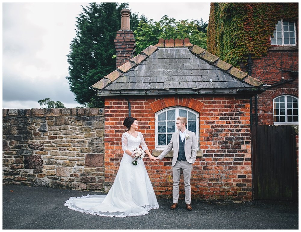Creative wedding photography of the bride and groom at Beeston Manor for their wedding- Creative wedding photography