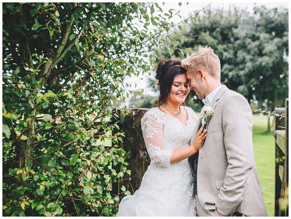 The bride and groom creative wedding photograph- Beeston Manor wedding venue, lancashire