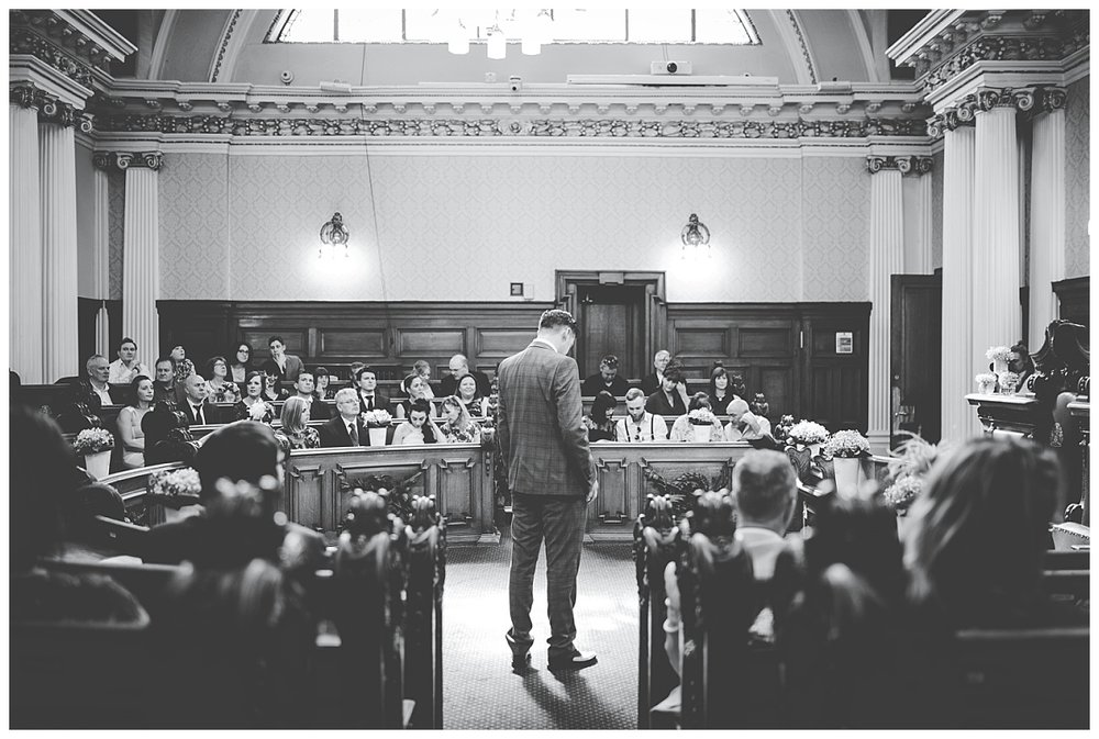 modern and relaxed wedding in Lancashire - Stockport Town Hall wedding