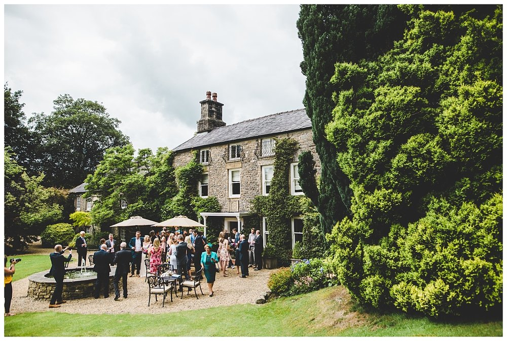 wedding photographer in the Lake District - exterior shot of Hipping Hall