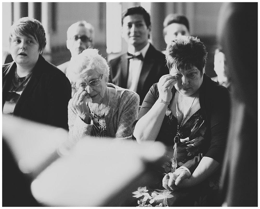 tears during the wedding ceremony - documentary wedding photographer