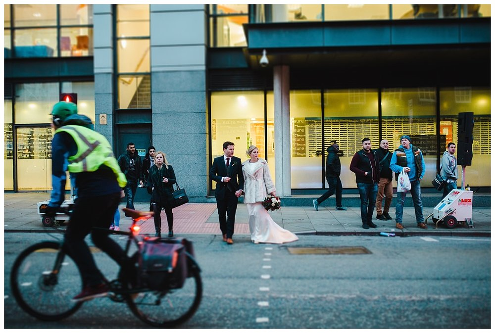 modern city centre wedding at Great John Street Hotel