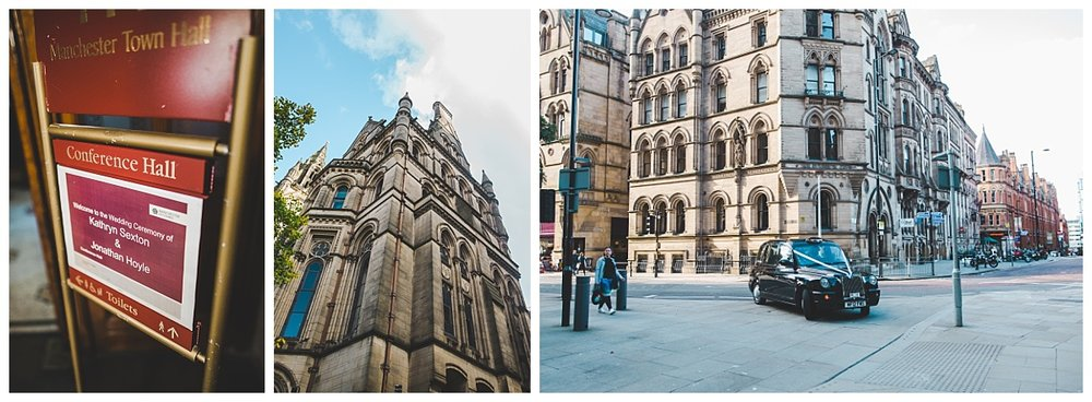 exterior shots of manchester town hall - wedding photographer in manchester