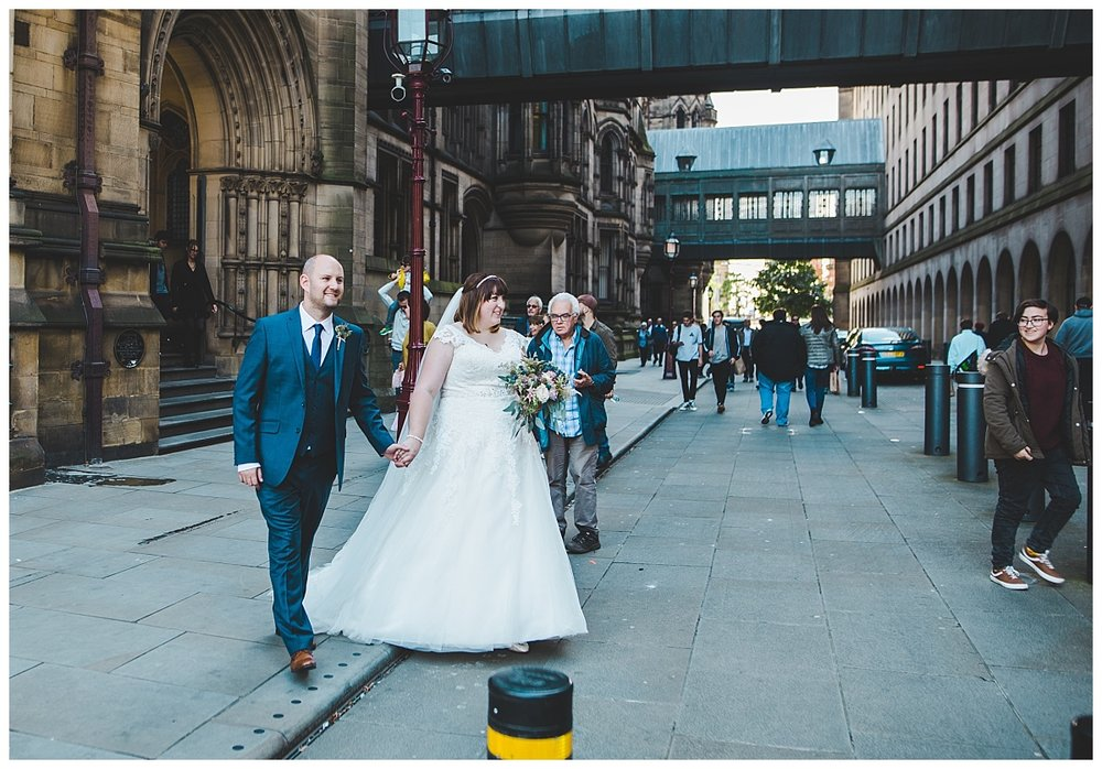 modern bridal portraits in manchester city centre - manchester wedding photography
