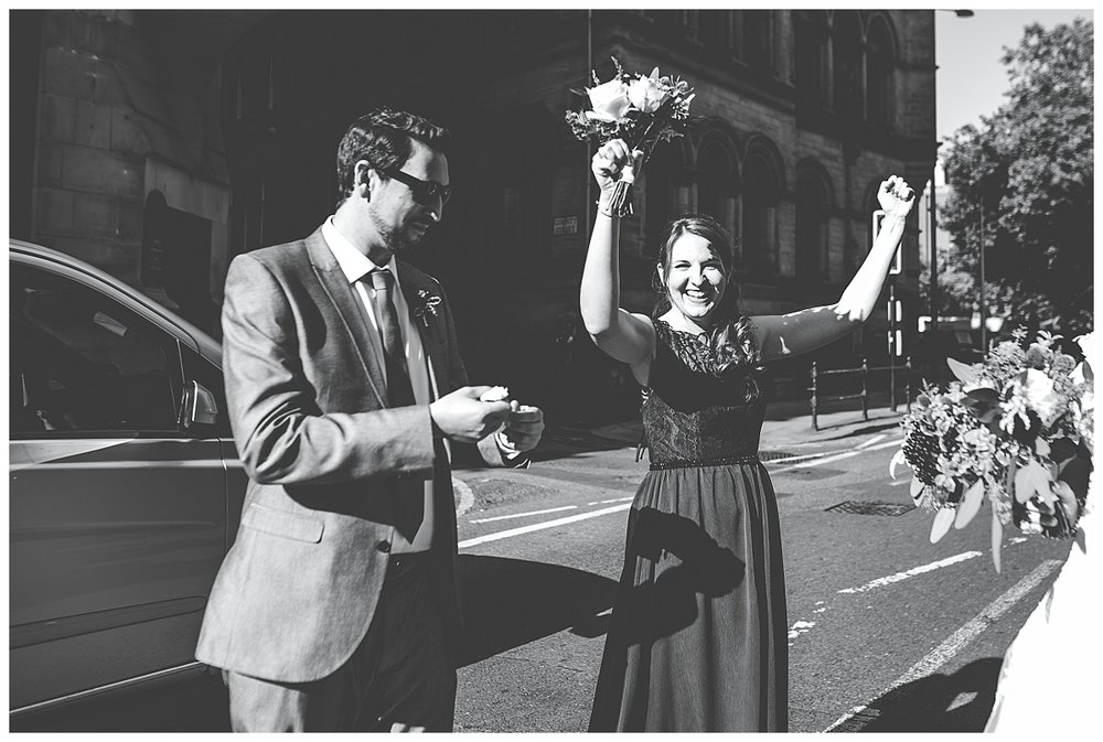documentary images of guests celebrating - wedding photographer manchester