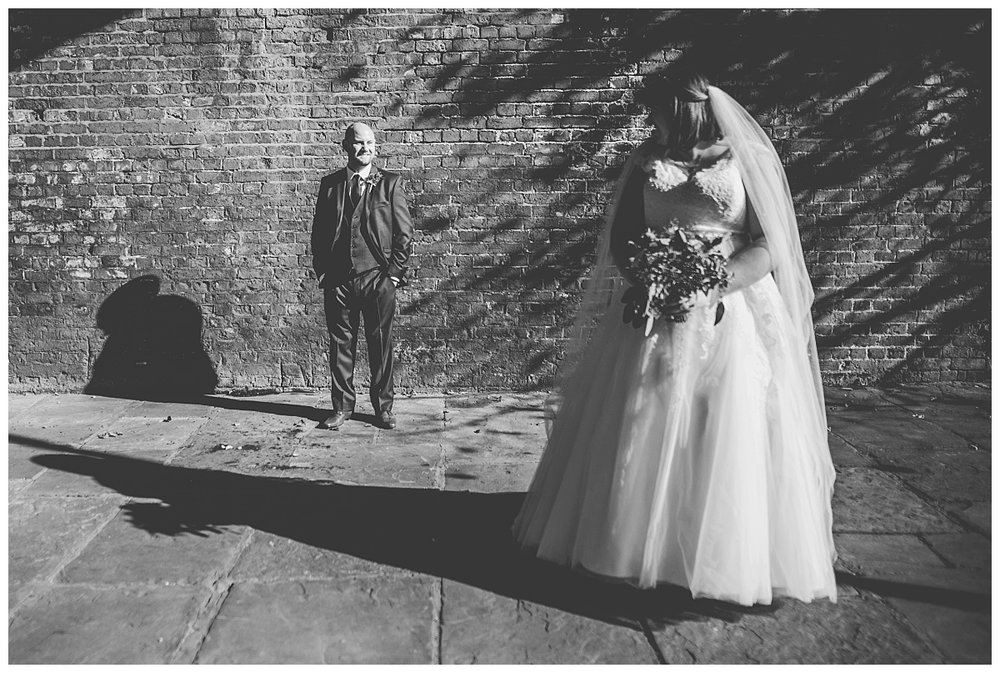 having some fun with bride and groom during portraits - manchester wedding photography