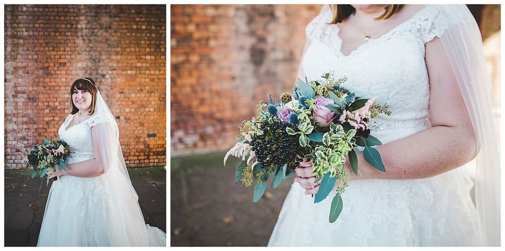 portraits of the bride - castlefield room wedding