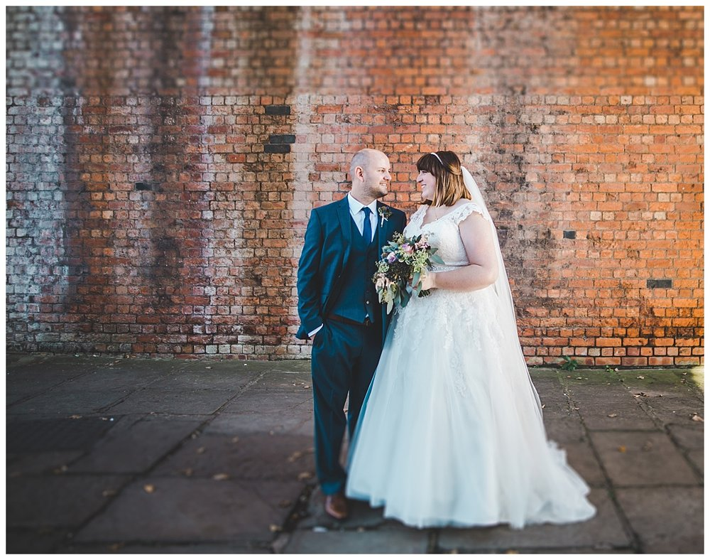 urban wedding photography - bride and groom together