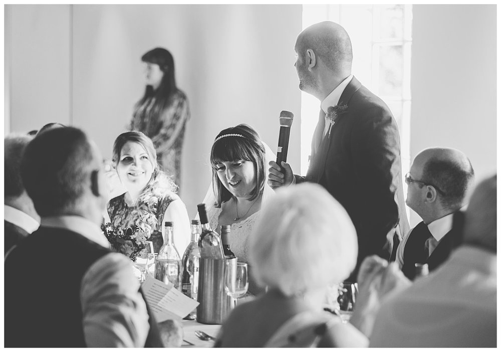 groom giving his speech - castlefield rooms wedding
