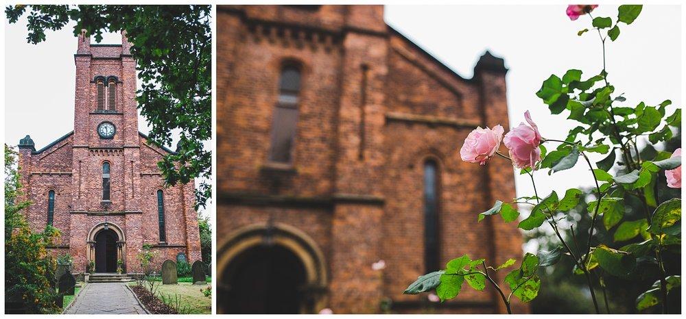 Manchester wedding photography - church exterior