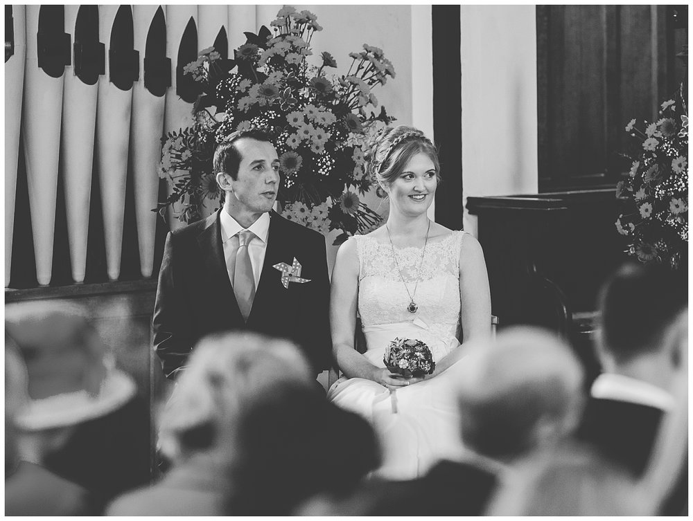 bride and groom during the church ceremony