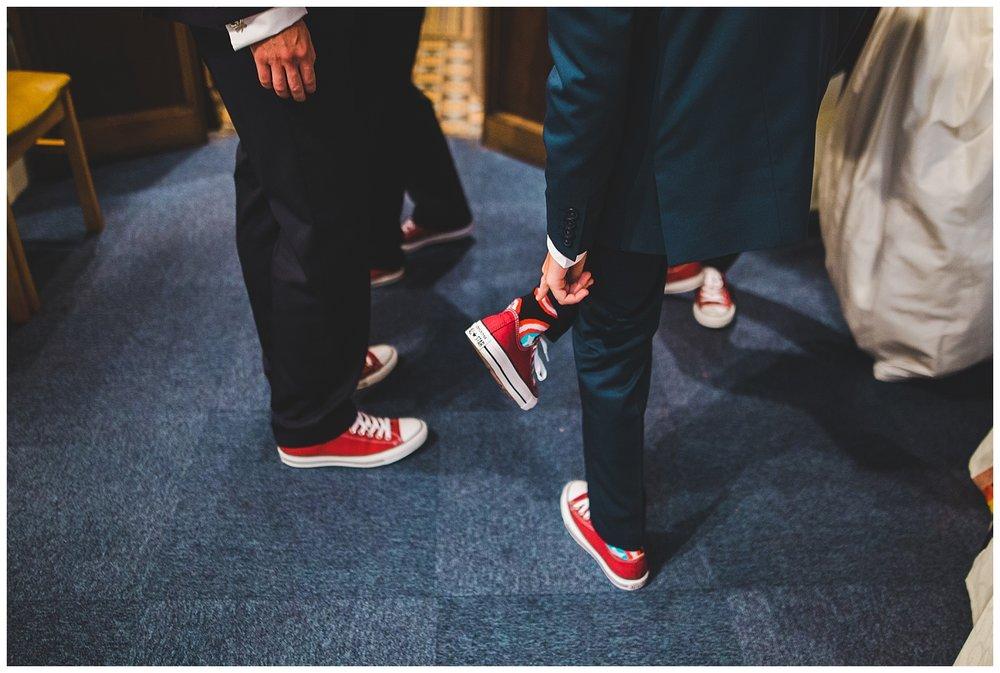 groomsmen wearing converse