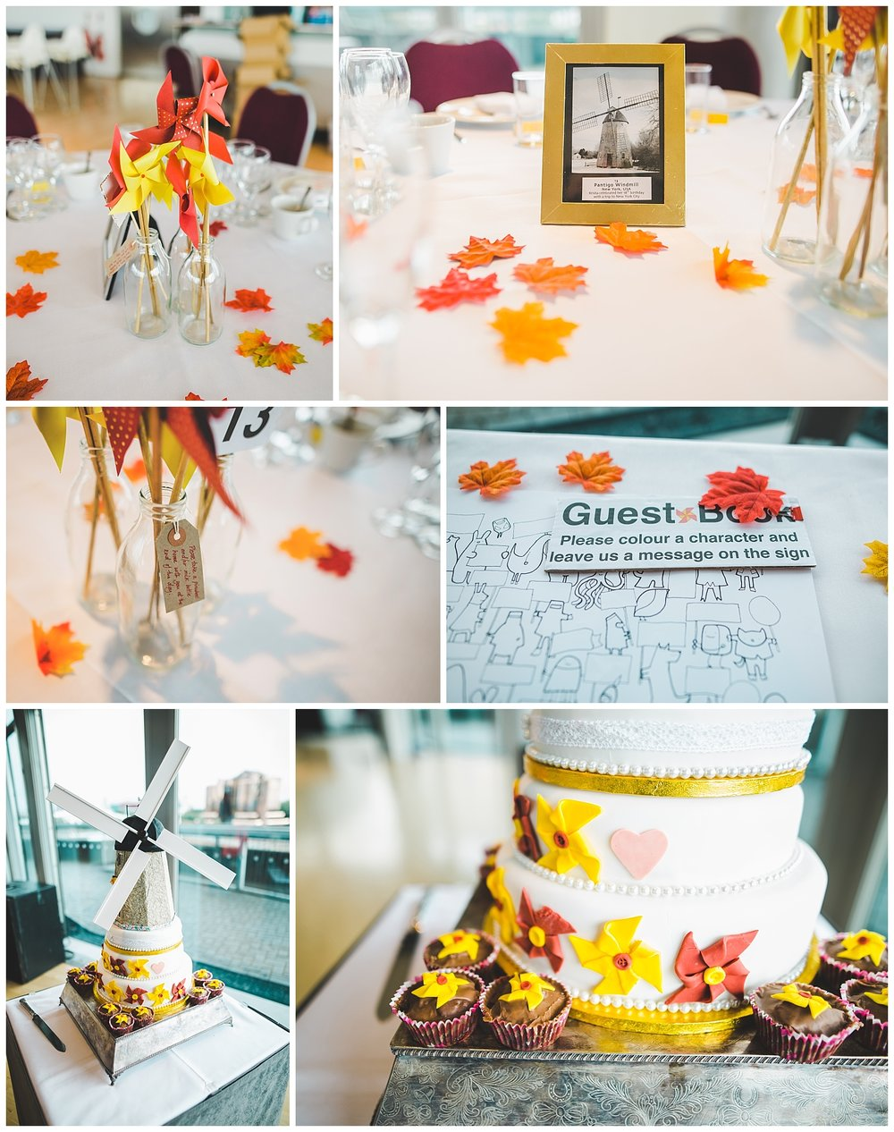 windmill theme wedding at the Lowry Centre