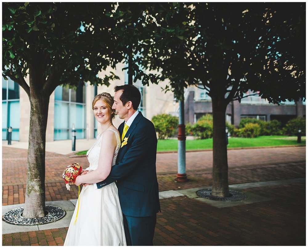 relaxed and romantic wedding portraits in Manchester