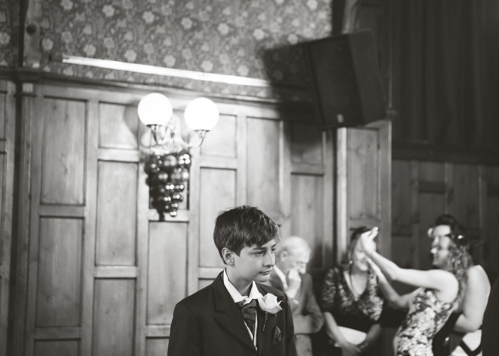 documentary wedding photography in the north west - bride's son