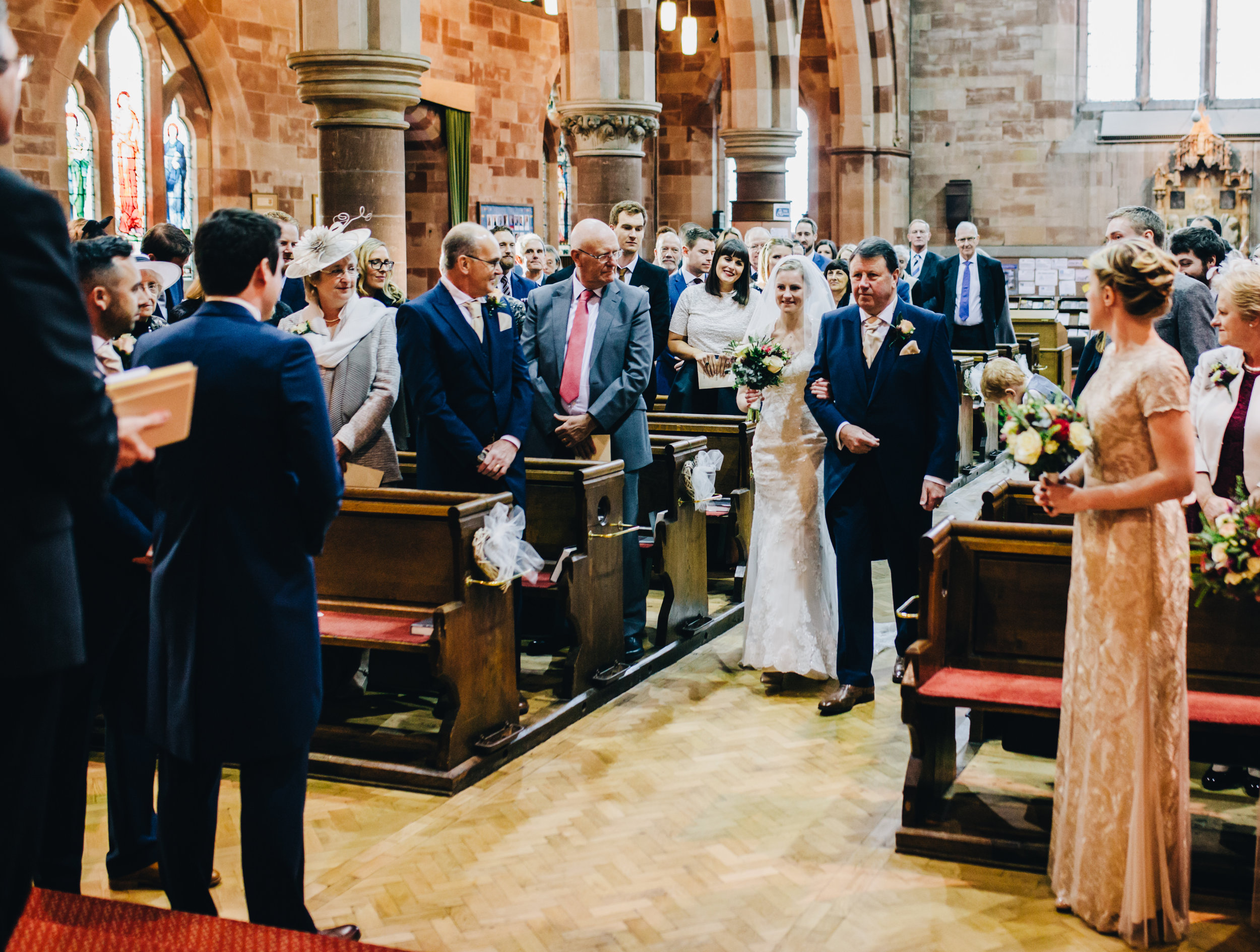 walking down the aisle - shropshire church
