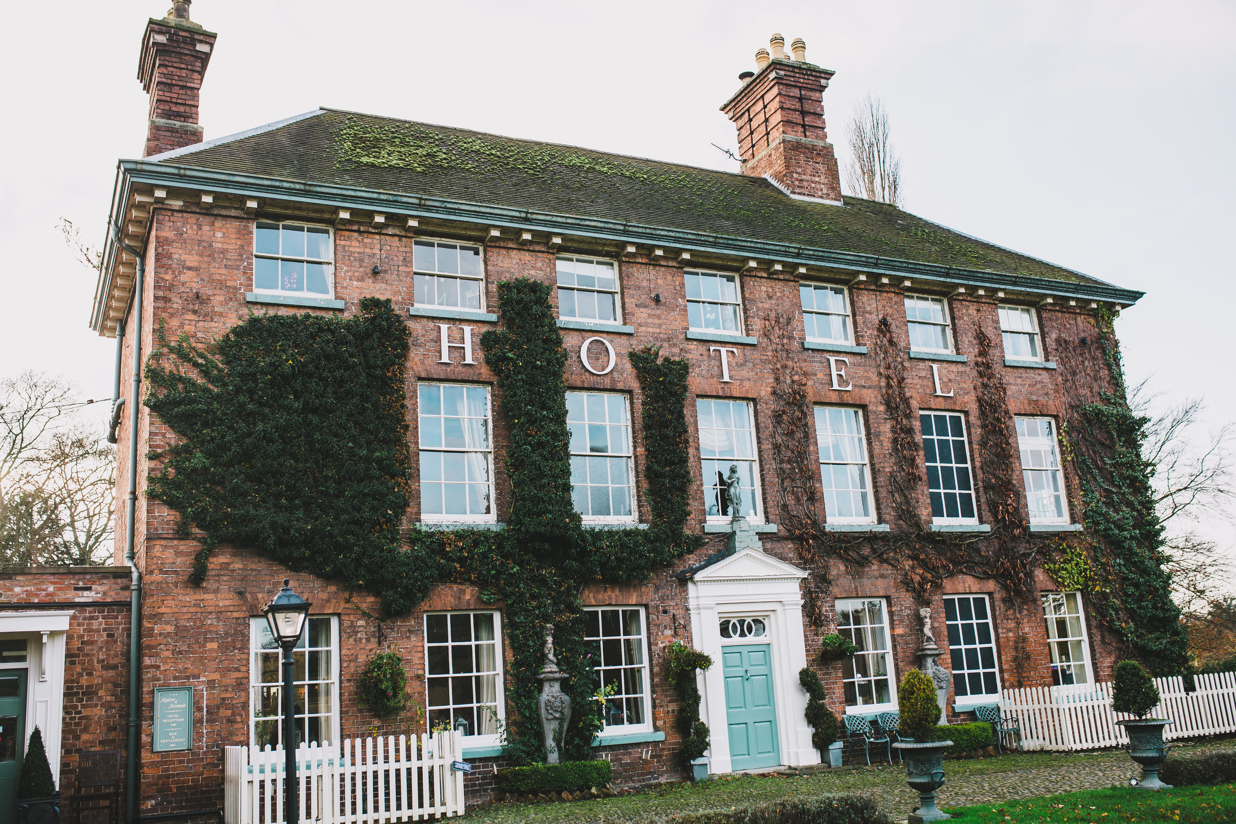 exterior of Mytton and Mermaid hotel