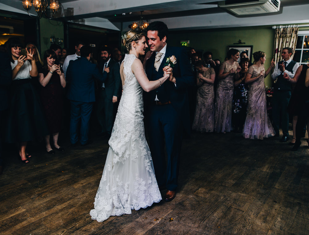 bride and groom share the first dance - cheshire wedding photographer