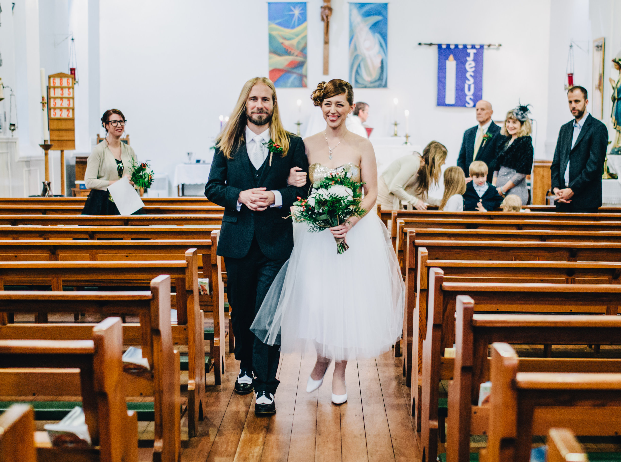 just married - alternative wedding in Yorkshire