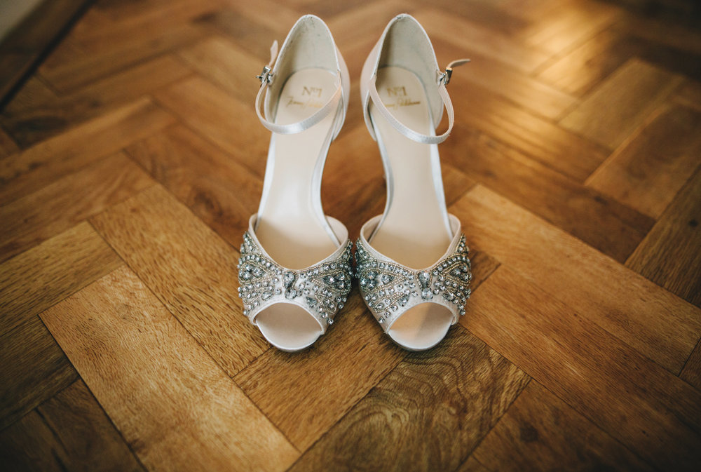 bride's beaded wedding shoes - capturing all the details of the wedding day