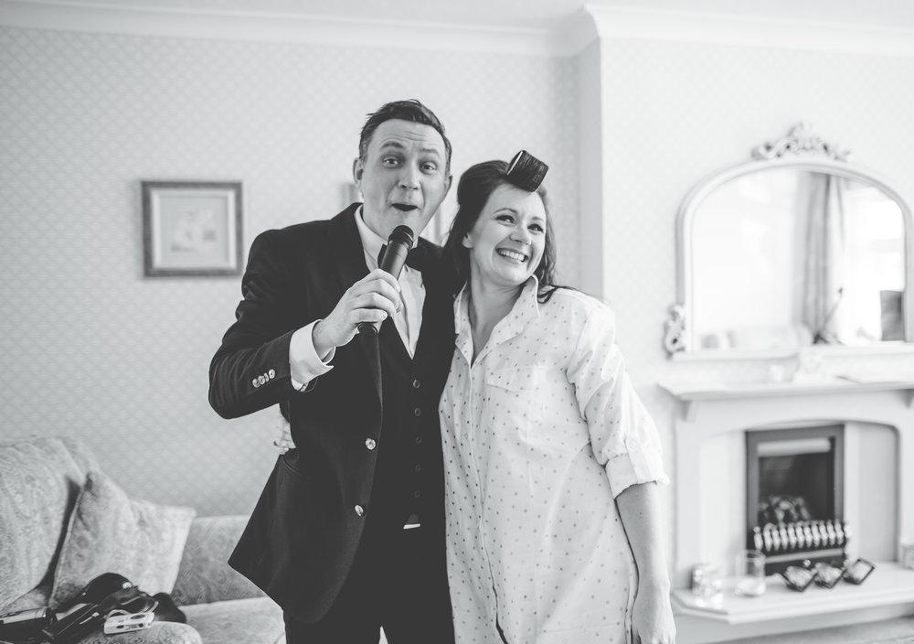live singer at bride's house