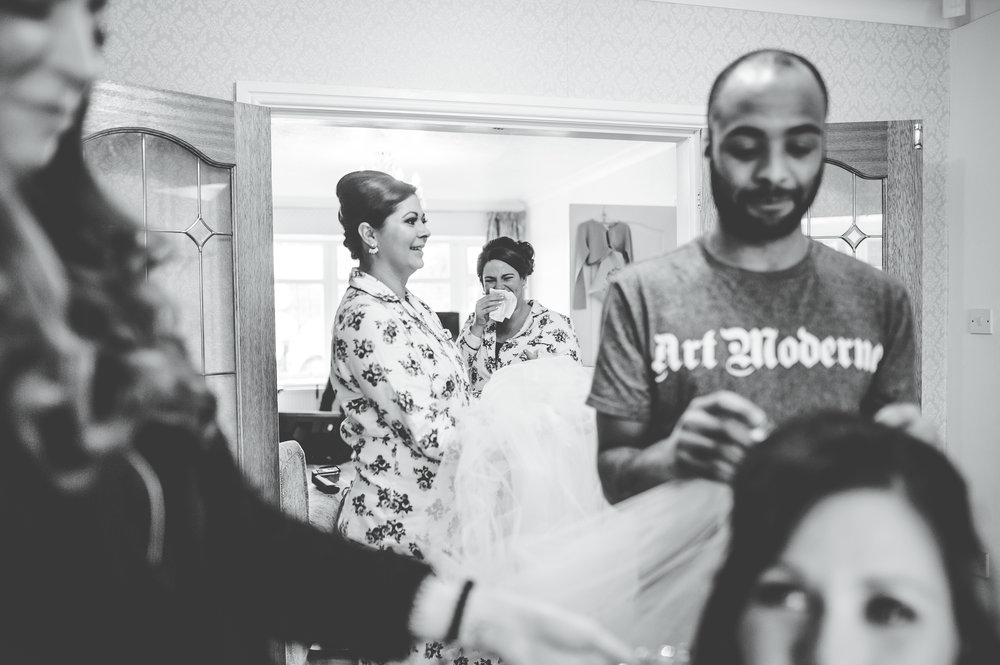 capturing the emotions - documentary wedding photography in Manchester