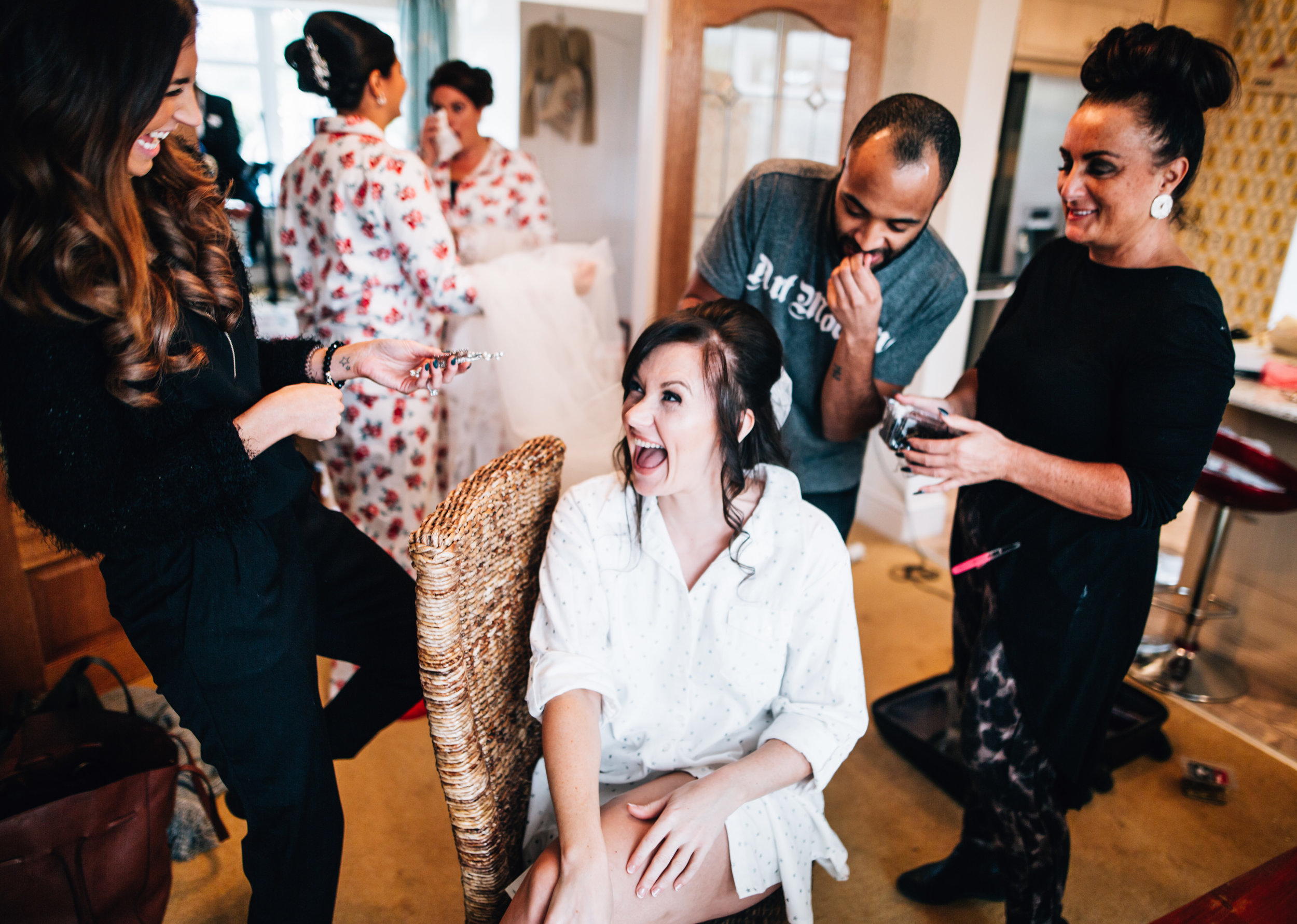 real wedding pictures - all the laughs