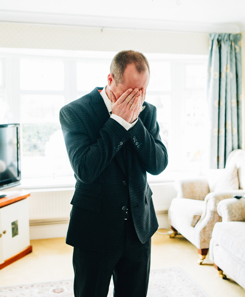 bride's brother gets emotional at seeing her for the first time