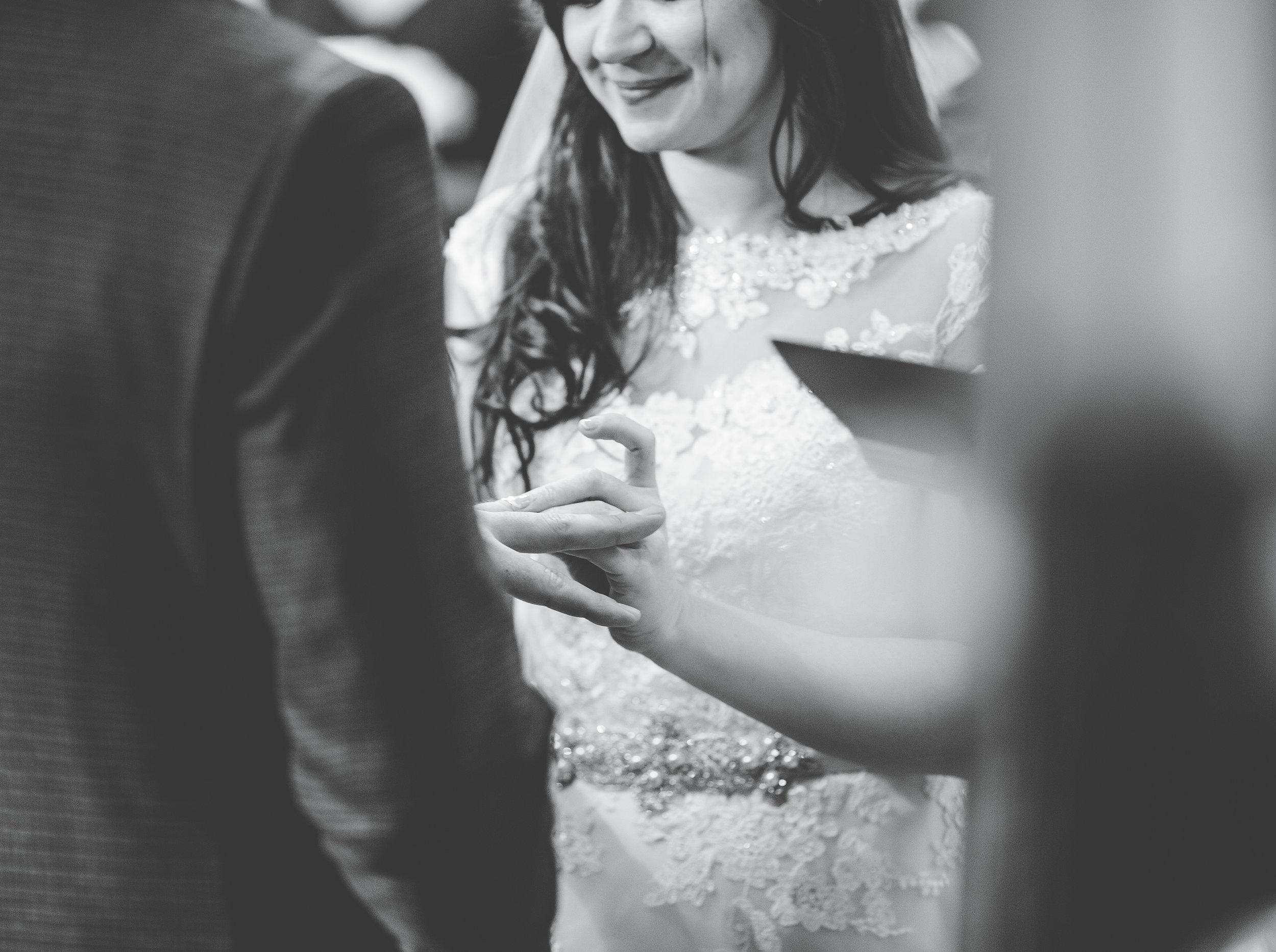 exchange rings - wedding photographer Lancashire