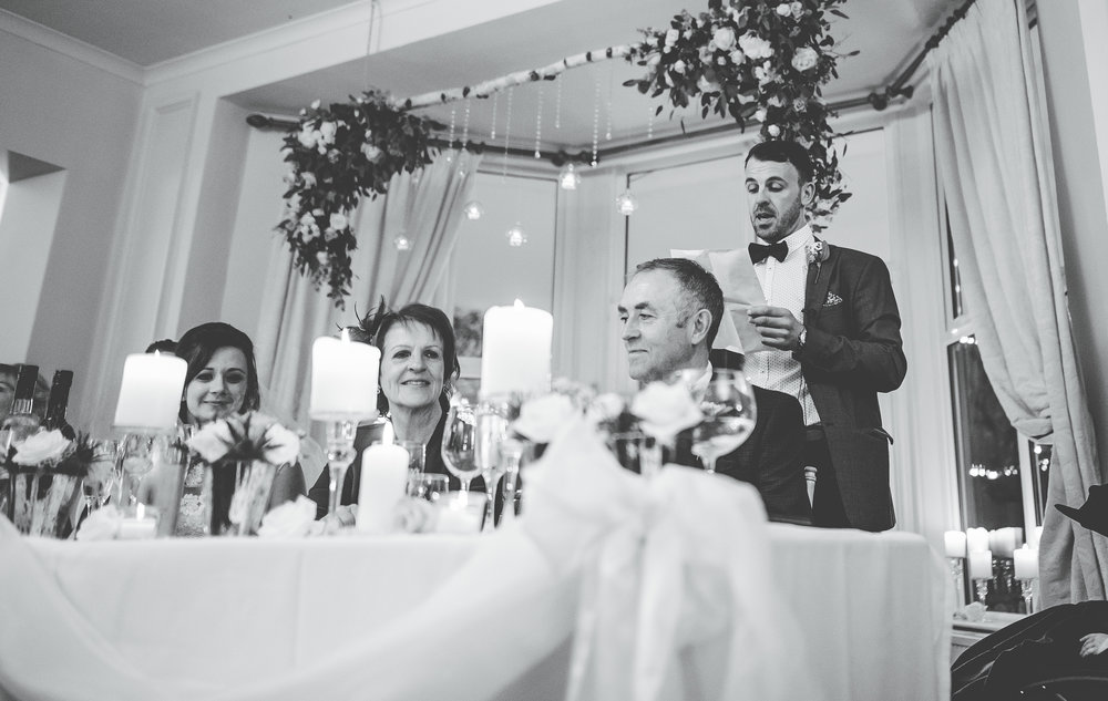 speeches at Ashfield House wedding ceremony