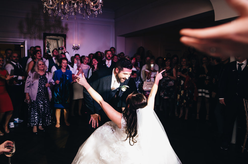 dancing at Ashfield House wedding photographer