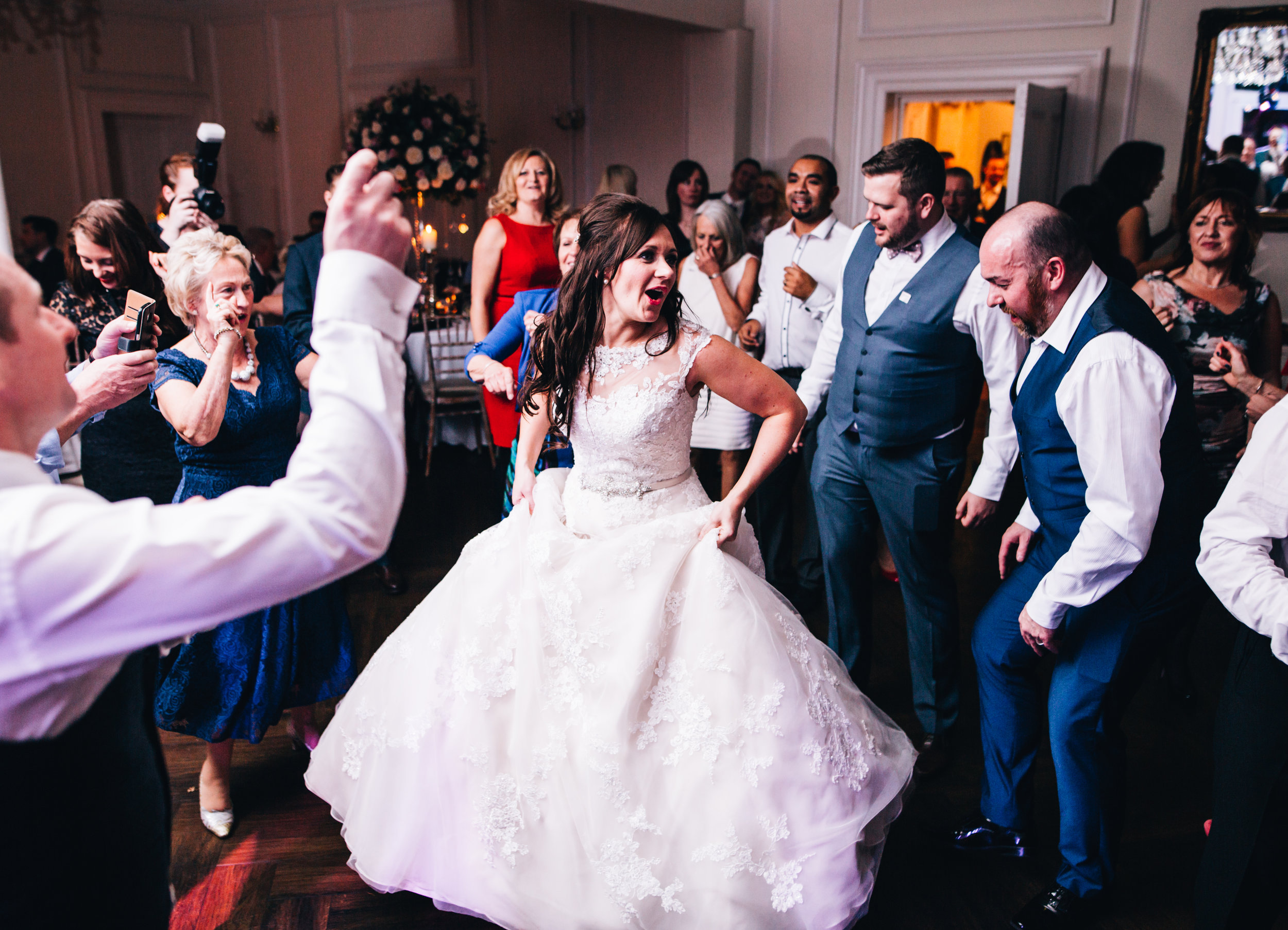 guests on the dance floor - Ashfield house wedding photography