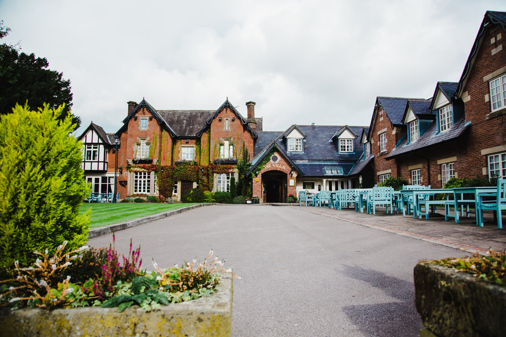 exterior image of the Villa at Wrea Green wedding venue
