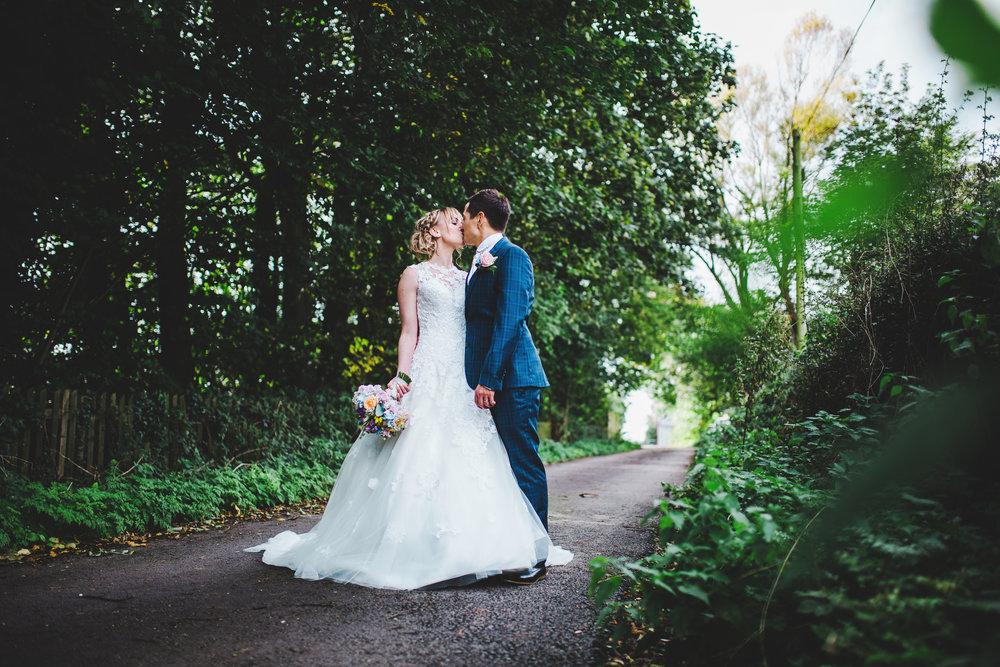 relaxed wedding portraits - lancashire wedding photographer