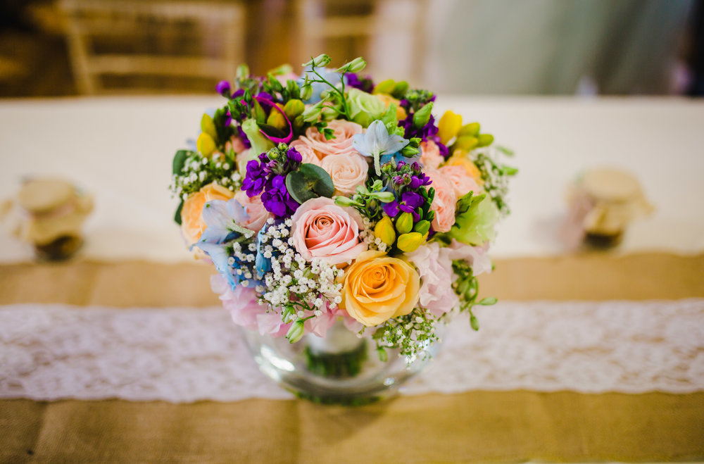 colourful and rustic wedding decorations