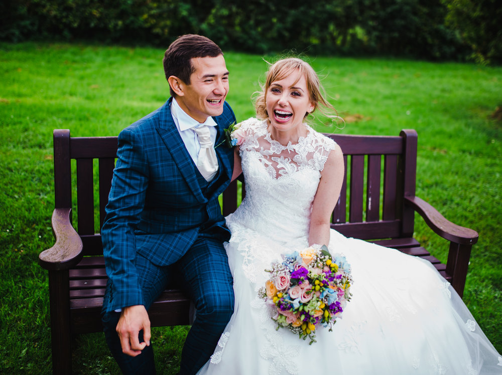 fun and relaxed pictures of the bride and groom - lancashire wedding photographer