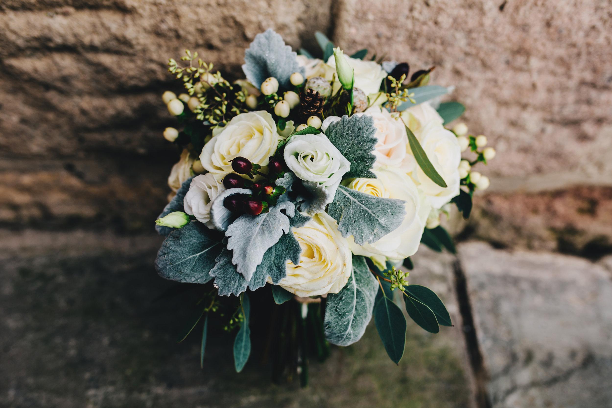 winter wedding flowers - lancashire wedding venue