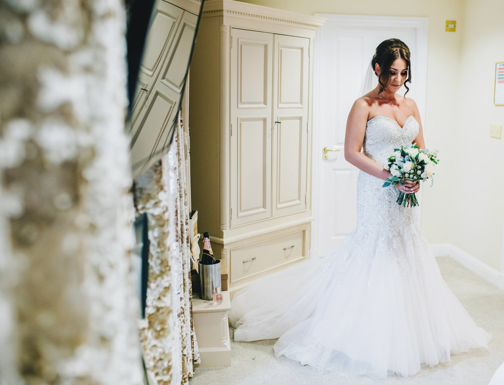 lancashire wedding photographer - bride is ready to get married