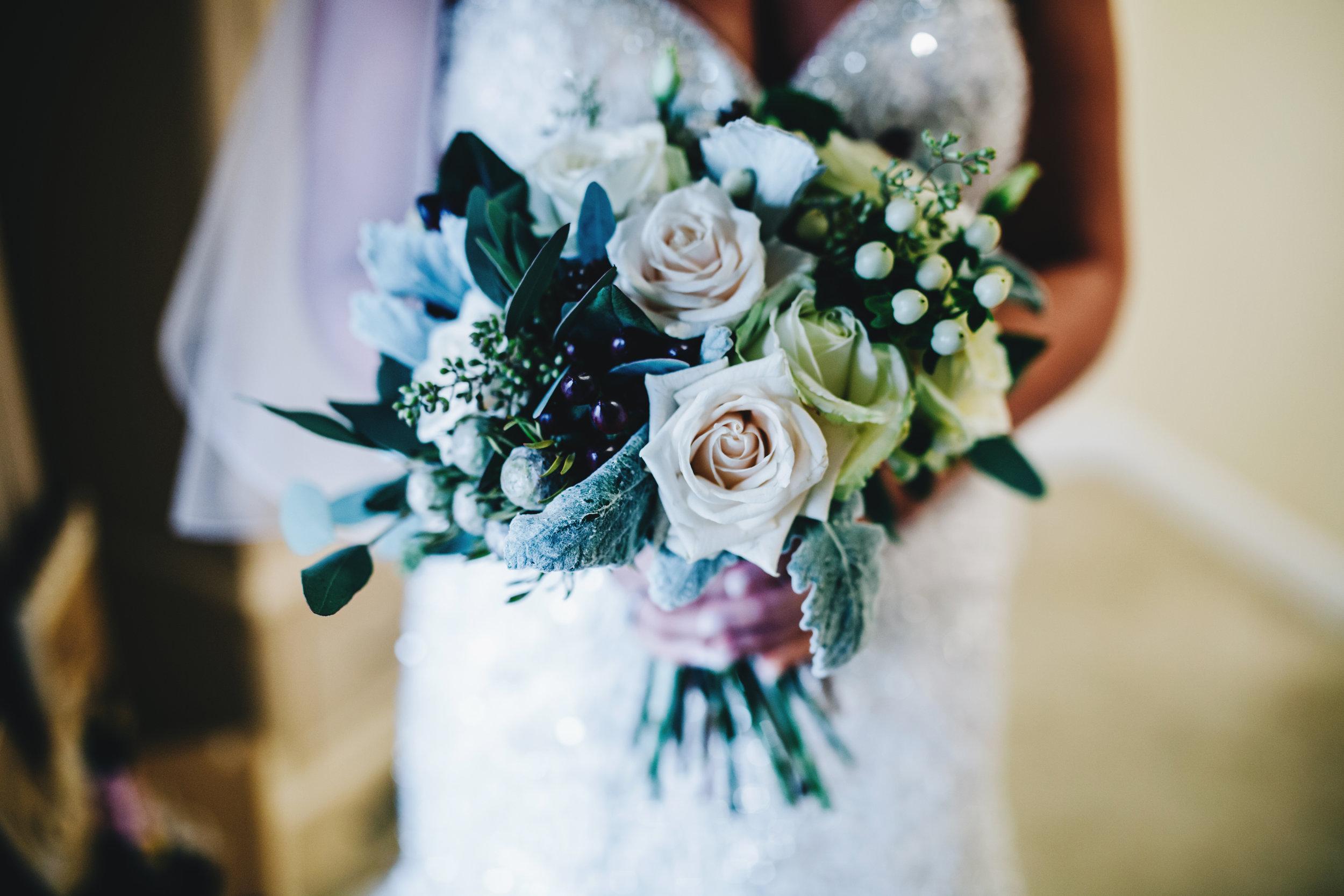 close up of the bride's bouquet