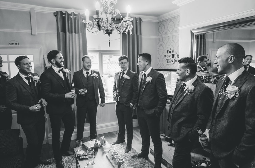 groomsmen getting ready to the wedding