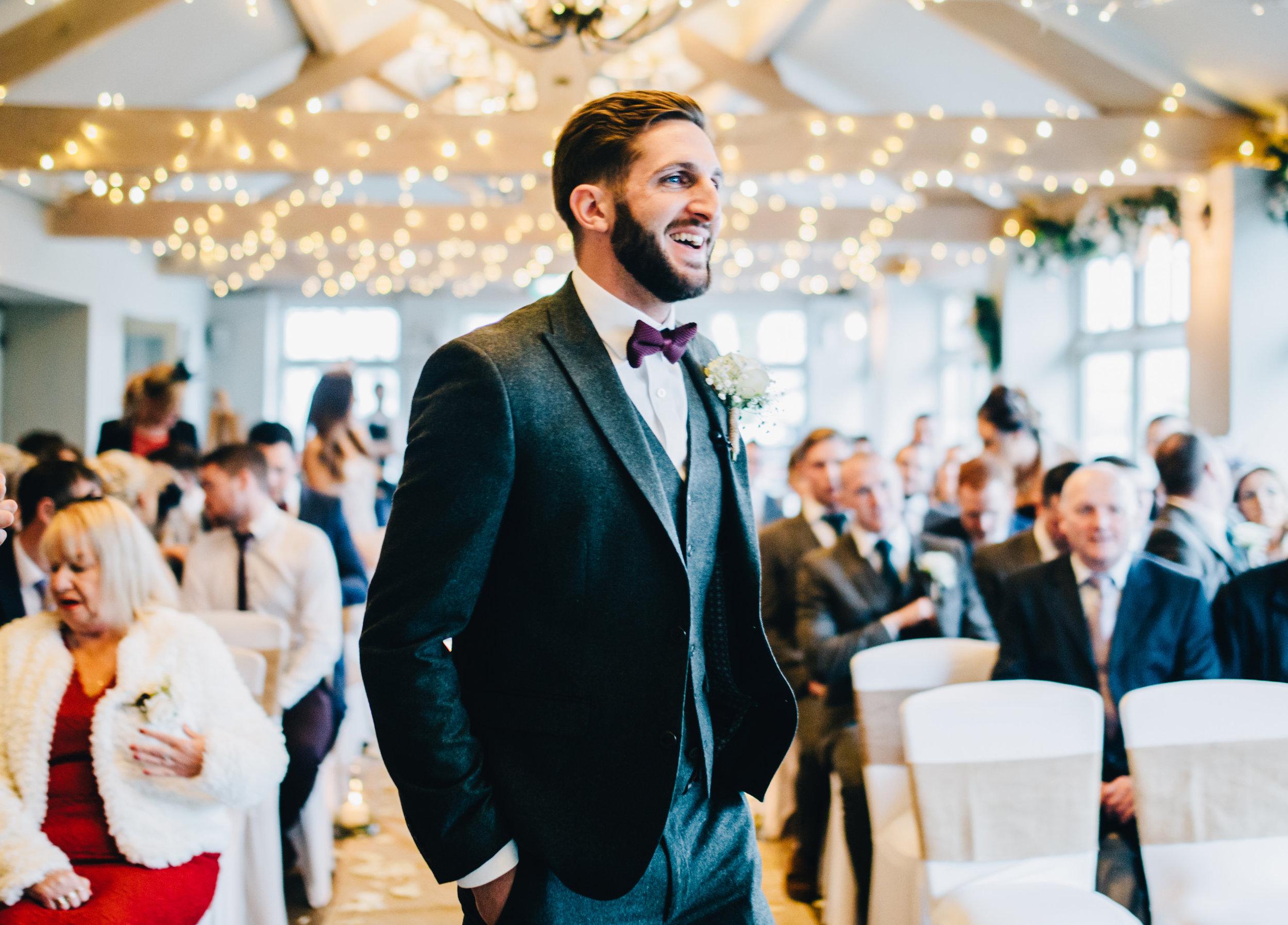 groom waits for the bride - alma inn wedding