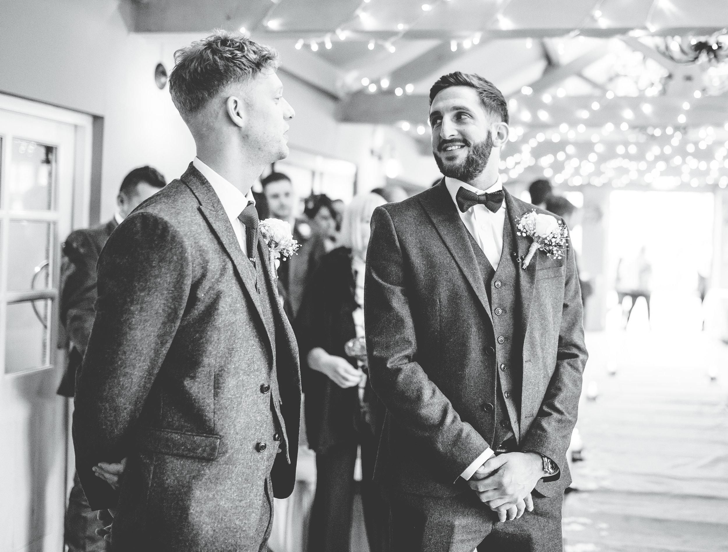 groom at best man at the alma inn