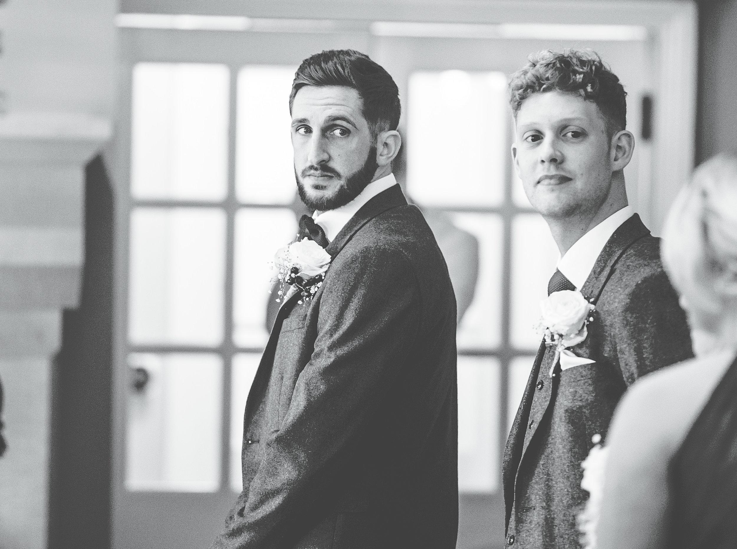bride sees the groom - Alma inn wedding