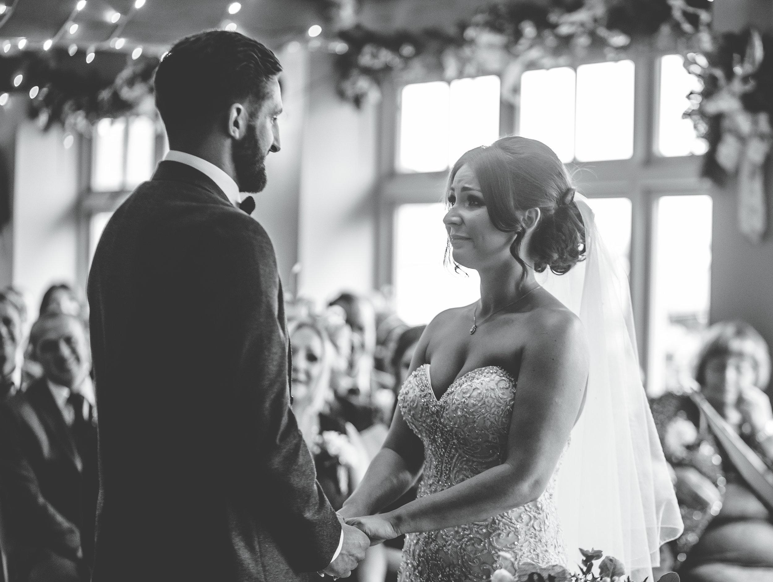 Emotional wedding ceremony at the Alma Inn Lancashire
