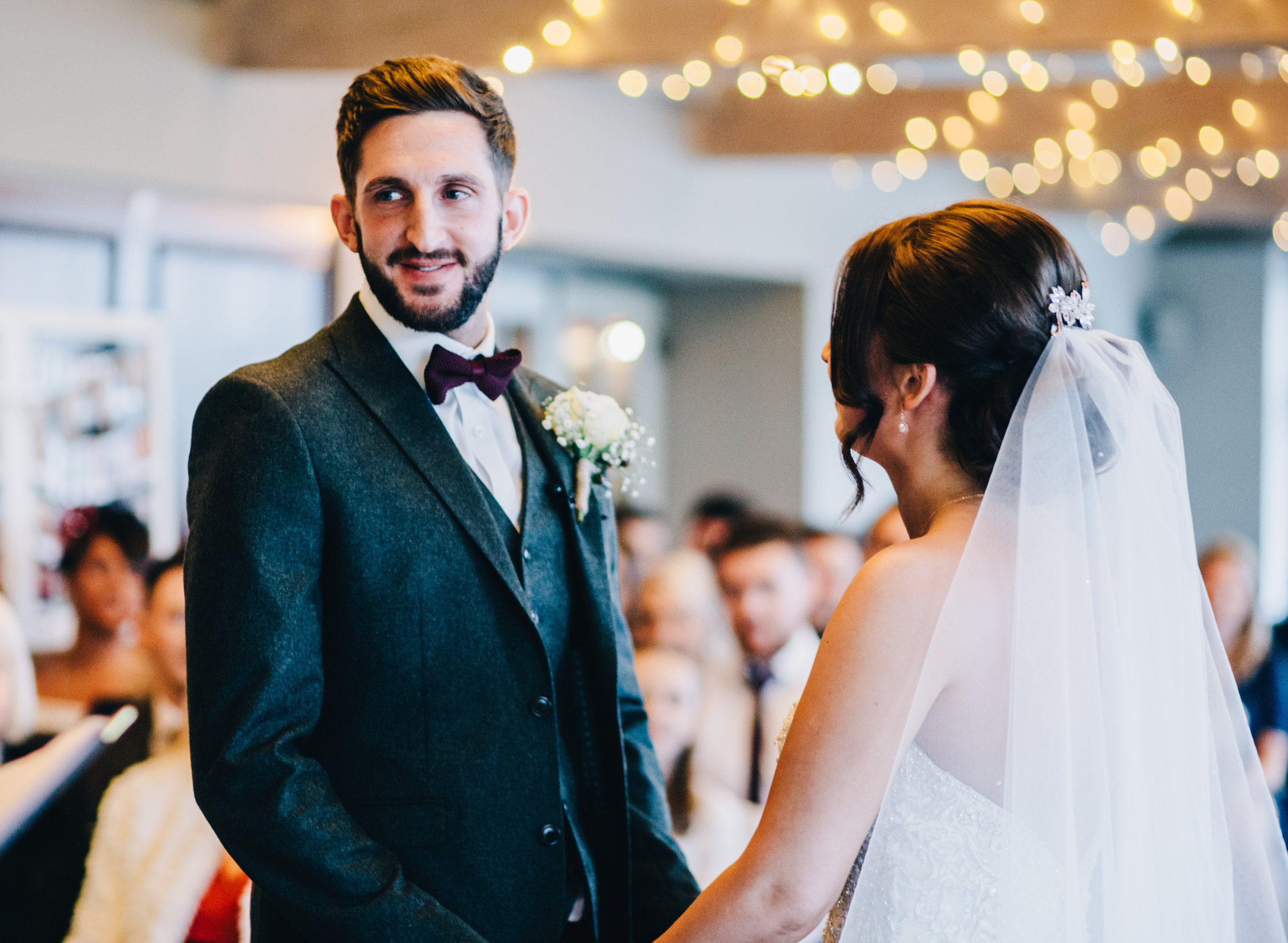 Smiling groom - Lancashire wedding photographer