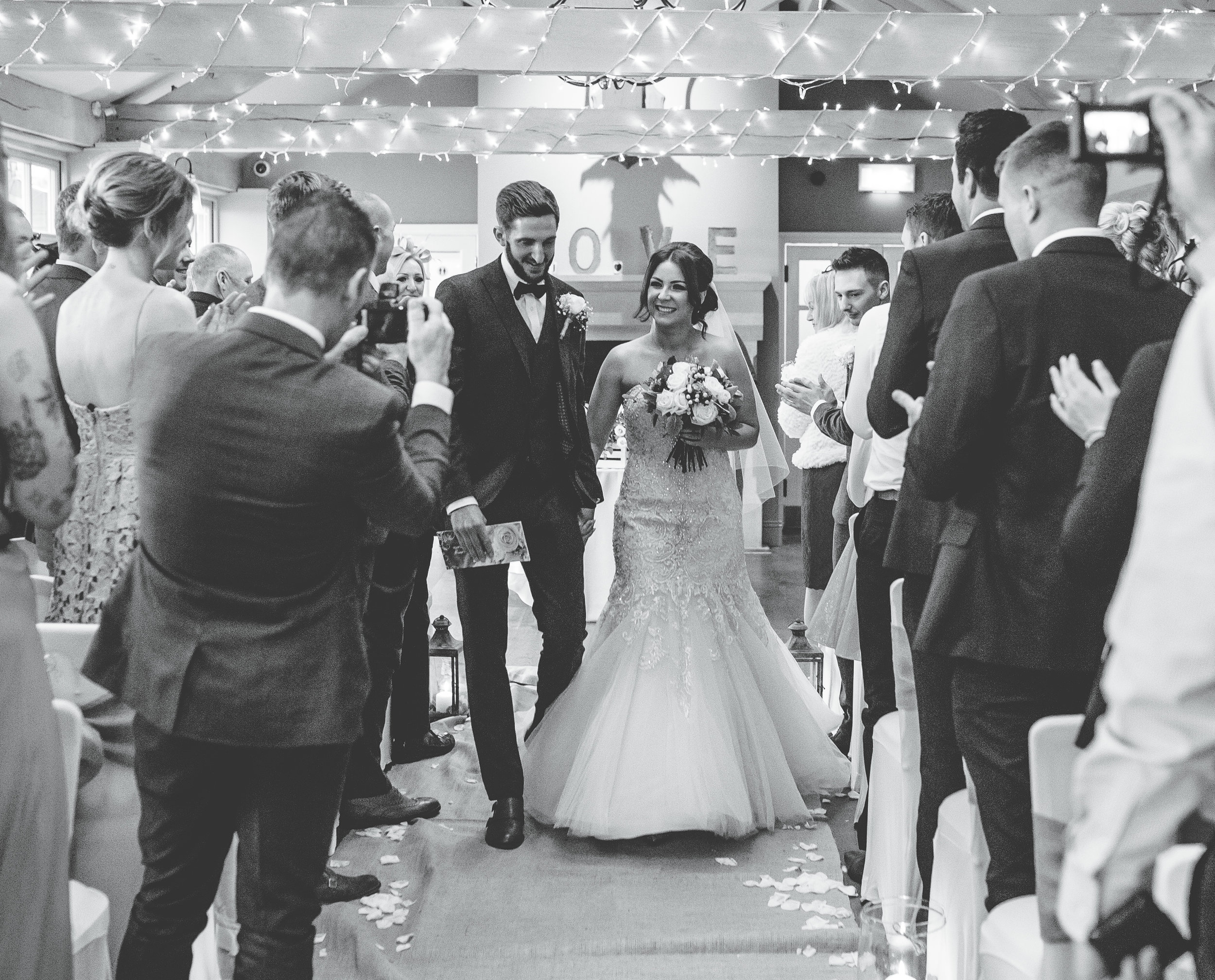 newlyweds at the Alma Inn