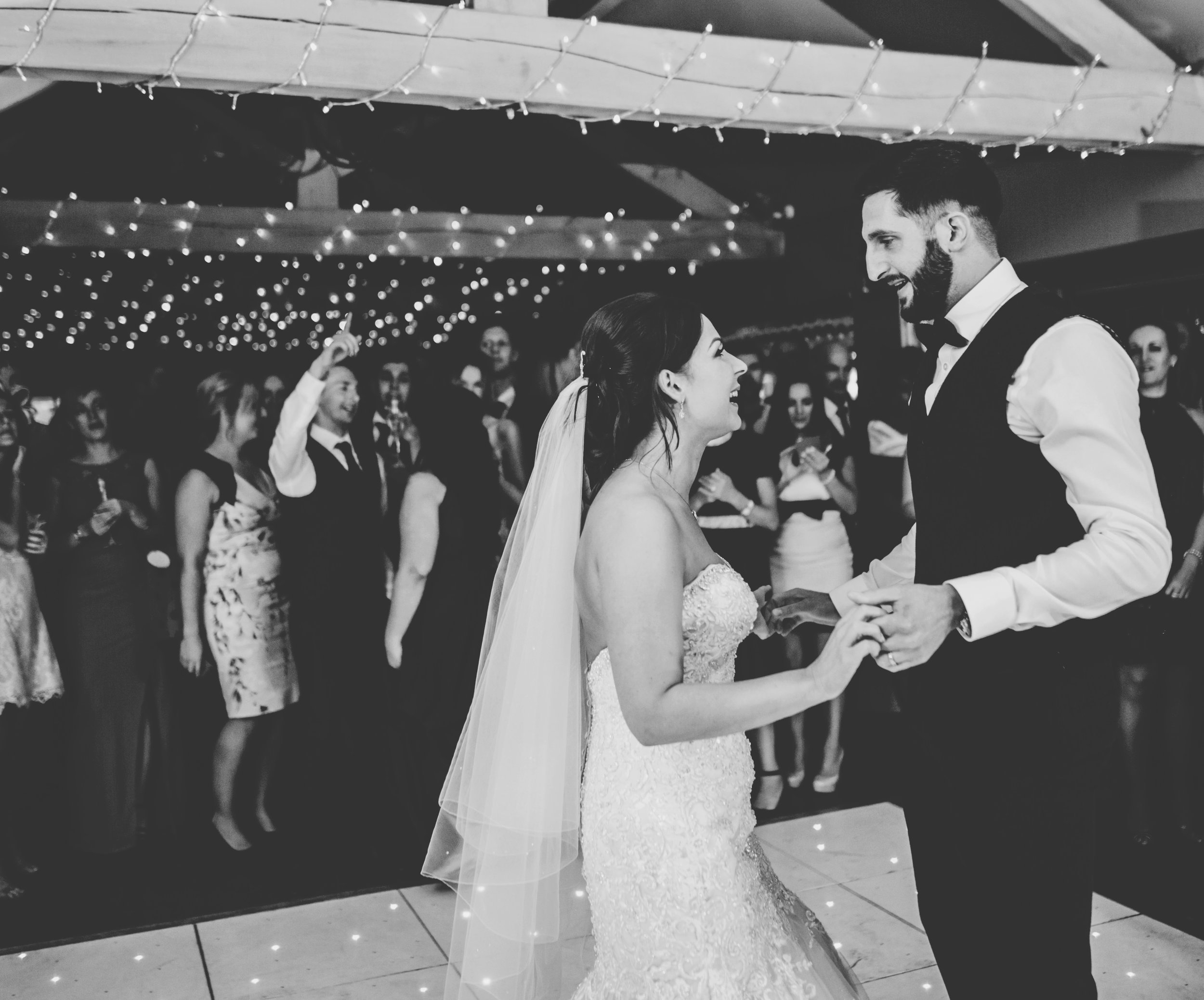 bride and groom dance - alma inn wedding