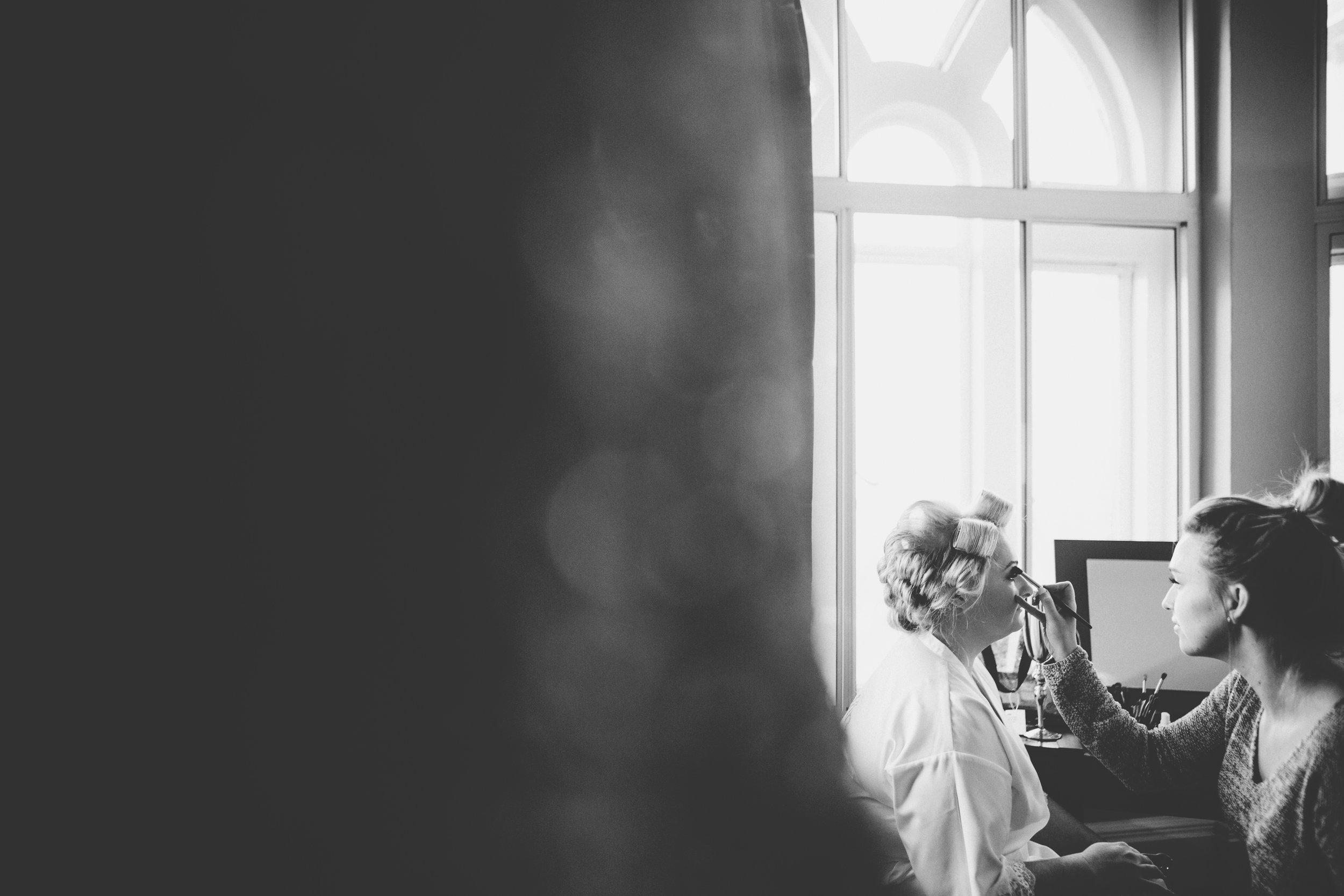 bride getting ready - Manchester wedding photographer